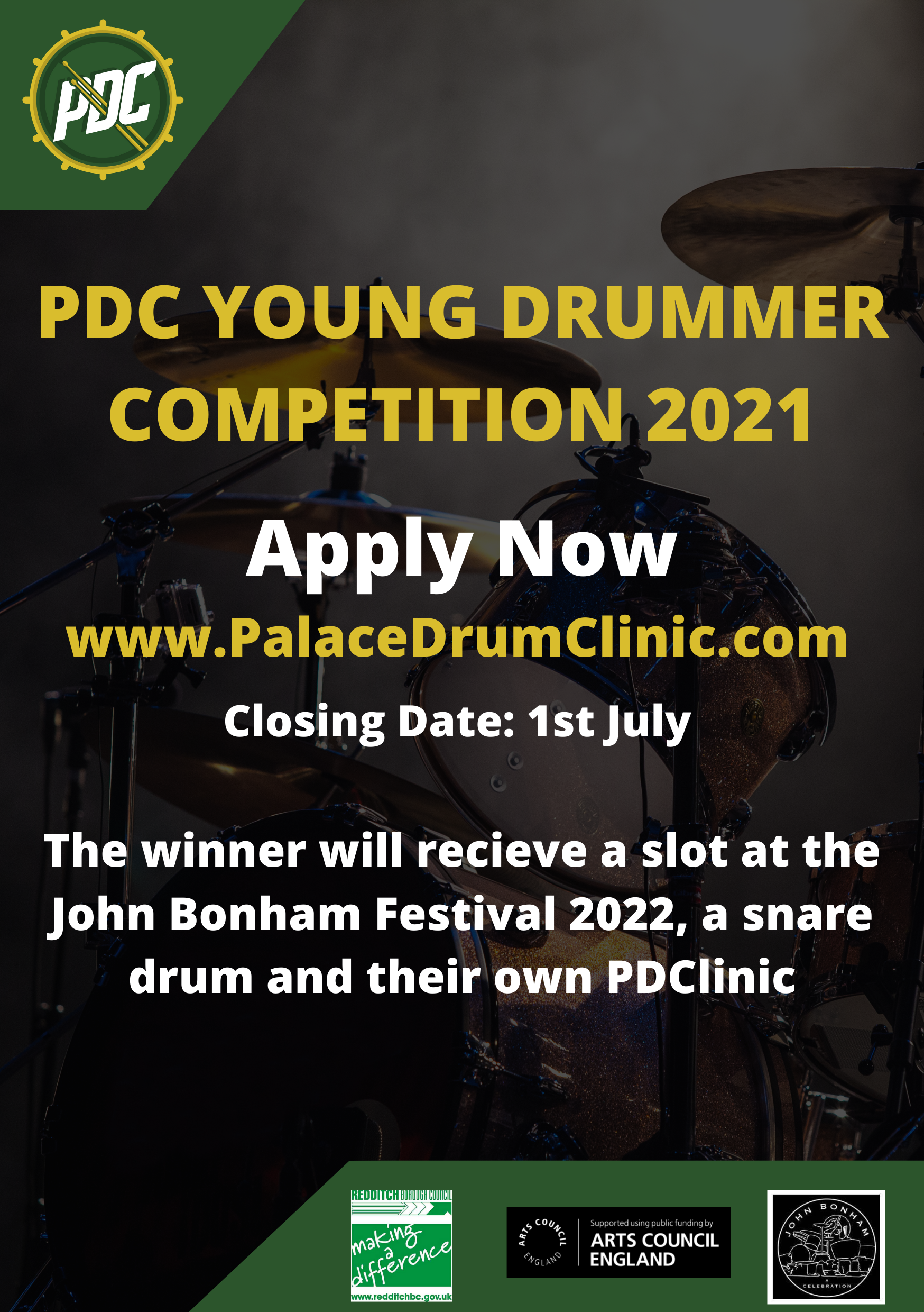 Young Drummer Competition Website Poster